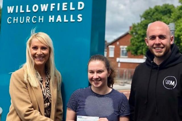 (L-R) Jo Myles Summerhill Foundation, Alice McCallum & Reuben Johnston Willowfield Parish Church Association.